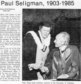 Paul Seligman, first president of APSO